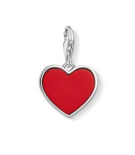 Abalorio Colgante Corazón Rojo