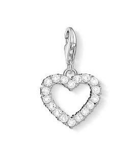 Abalorio Colgante Corazón con piedra trasparente