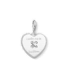 Abalorio Colgante corazon cute as a button