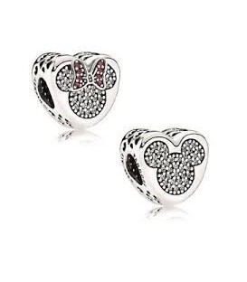Abalorio de Pandora Amor Verdadero Mickey & Minnie