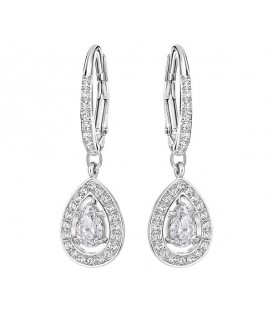 PENDIENTES ATTRACT PEAR, BLANCO