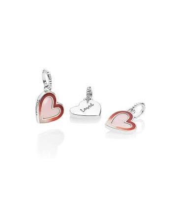 Charm Pandora corazón de amor asimétrico 797820ENMX