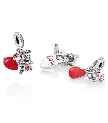 Charm colgante Pandora Mickey y Minnie con amor 797769CZR