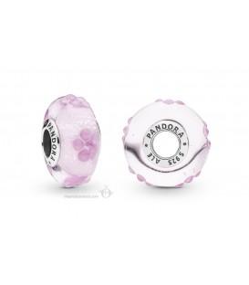 Murano Pandora flores rosas 797901