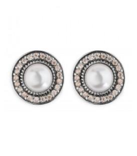 Pendientes Plata de Palo perla CE56A