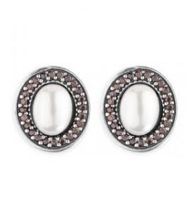 Pendientes Plata de Palo perla CE57B