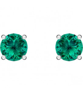 Pendientes Swarovski Botón Attract verde 5512384