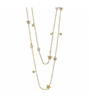 Collar Doble Salvatore Estrellas y Circonitas 164C0028