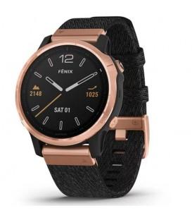 Reloj Garmin Fenix 6 S Zafiro Gold Rose negro 010-02159-37