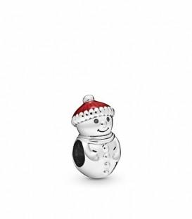 Abalorio Pandora Muñeco de Nieve con Sombrero de Santa 798478C01
