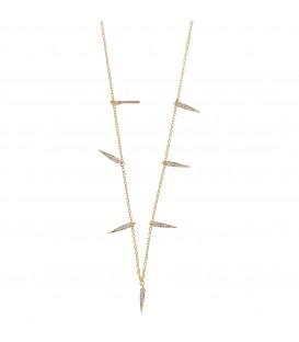Collar Salvatore Plata Puntas 213C0067