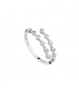 Anillo doble ajustable plata circonita Itemporality SRN-101-001-12