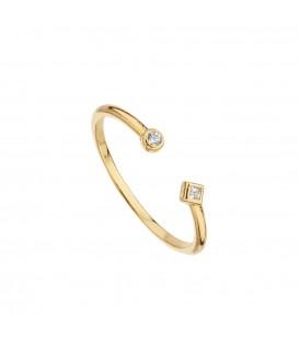 anillo asimétrico chapado oro Itemporality SRN-201-005-12