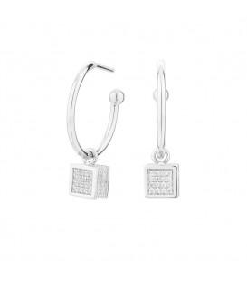 Pendientes Cube cuadrado plata Itemporality SEA-101-052-UU